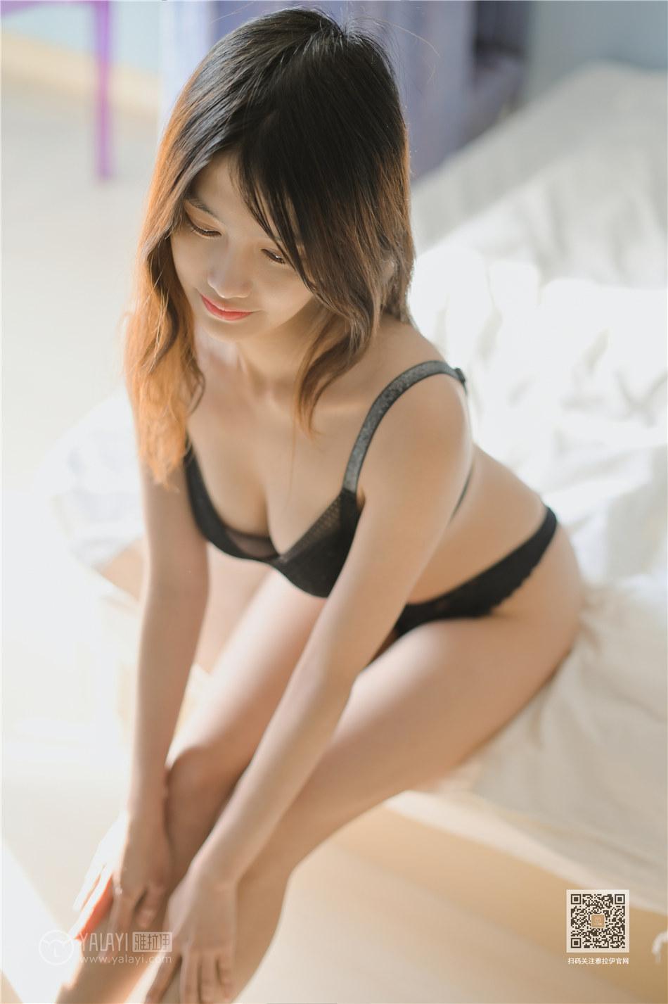 雅拉伊  甜美女孩彤彤性感内衣大胸人体诱惑私房写真  No.431